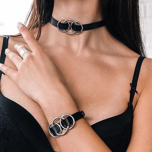 Комплект чокер и браслет Ring...